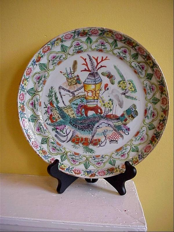 Elaborately Decorated Mandarin Palette  Plate