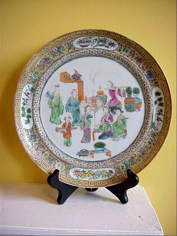 Dramatic Mandarin Palette Plate-1830s
