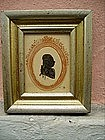 Silhouette American Revolution English Officer 1780s