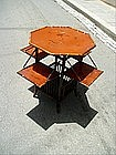 19thc Japanese Hexagon  Bamboo Tea Table Lacquered