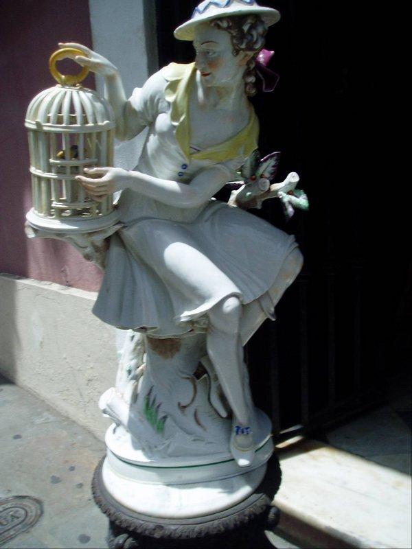Lge German Porcelain Female Art Deco 1920s Sgnd
