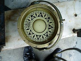 Marine Compass Brass Housing Scotch ca 1900