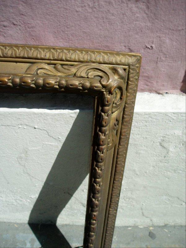 Carved Wood Gilt Frame ca 1920s