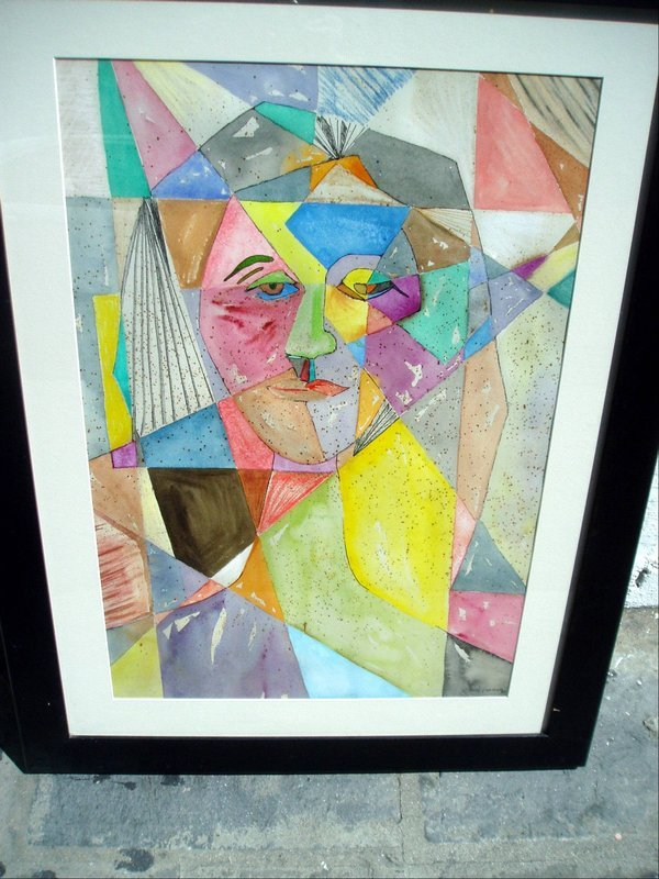 Spanish Abstract Watercolor-Sgnd '89