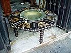 19thc Spanish Bone Inlay Brazier or Table