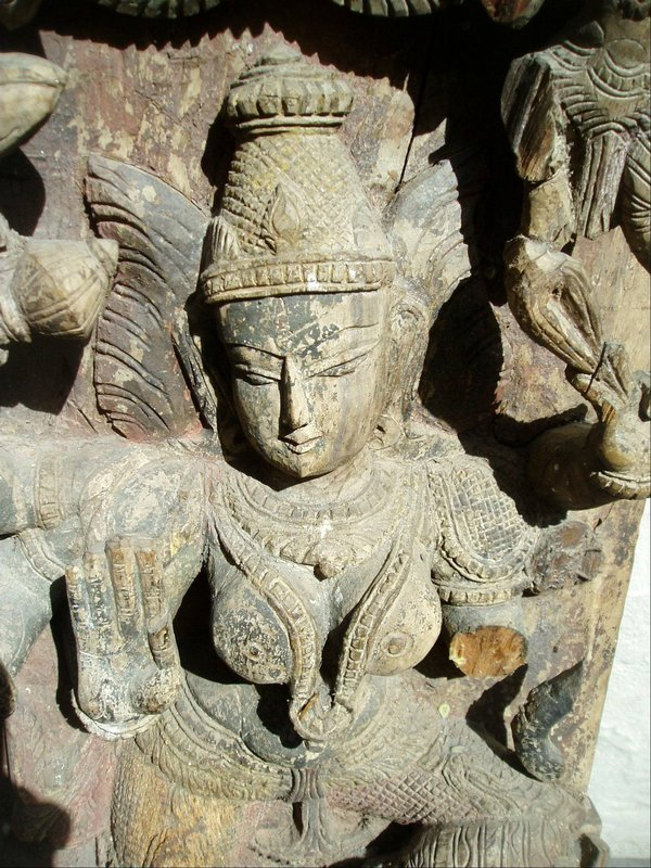 East Indian Architectural Temple Carving 300 yrs