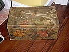 Chinese Painted Pigskin Trunk-1870s