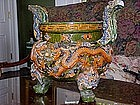 Chinese Ming Pottery Incense Burner-Sancai