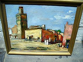 French 19thc Orientalist Oil Painting Sgnd Dated
