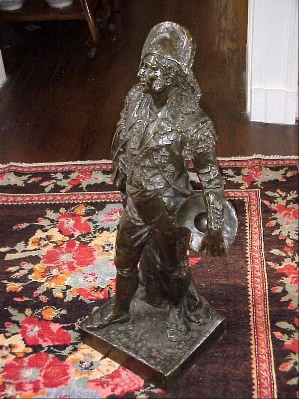 Large Bronze Figure-Figaro-19c-34inch