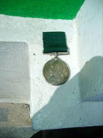 English  19thc Silver Military Decoration Edward VIIth