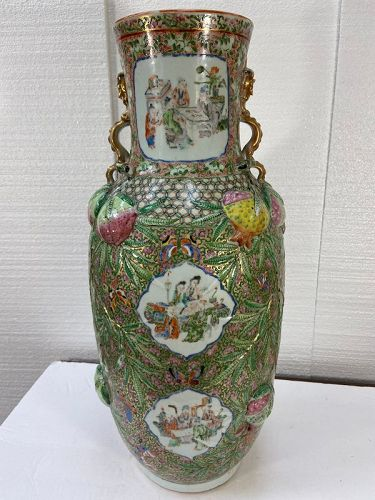 Antique Chinese Famille Rose vase in very good condition.