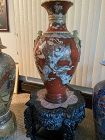 Antique Japanese Satsuma  32 inches 81 centimeters tall artist marks