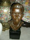 American bronze by ROMAN BRONZE WORK INC. NY. A bust. by T. PADRYSKA.