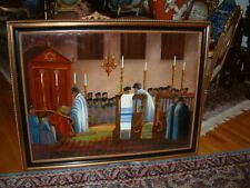 A large painting of a Synagogue in Poland signed  W. CHALIPKA 1937.