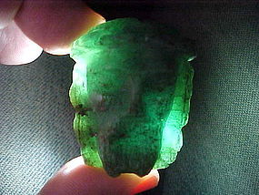Portrait of Christ in Gem Quality Emerald:1600's w/vid