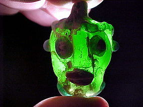 Carthaginian Glass Head Pendant Bead C400 B.C. w/video