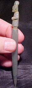 Olmec Jade Cache Dagger 1200BC w/video Bill Breckinridge COA