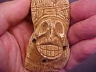 Taino Carved Engraved Bone Skull Pendant