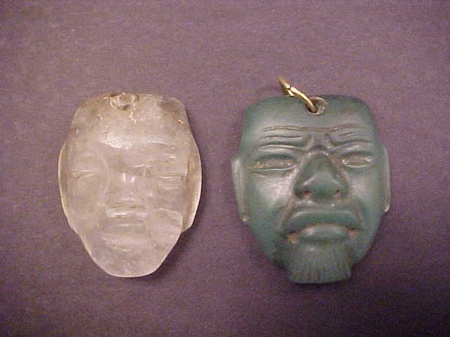 Olmec Quartz Small Maskette COA