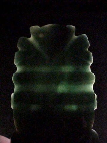 "Ex. Rare Costa Rican Jade Female  Axe God 8 1/2"" COA"