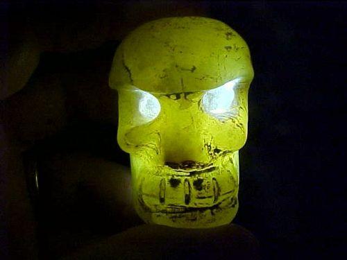 Hongshan Yellowish Green Jade Skull 5000BC COA