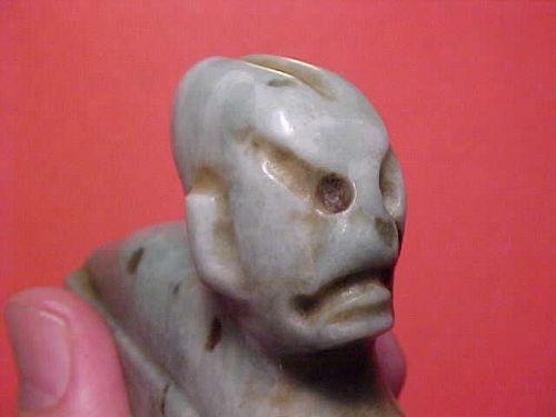 Ex. Rare Olmec Blue Jade Perforator Handle 1200BC-600BC COA