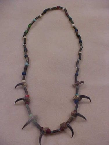 Ex. Rare Plains Indian Copper Beads and Bird Claw Necklace