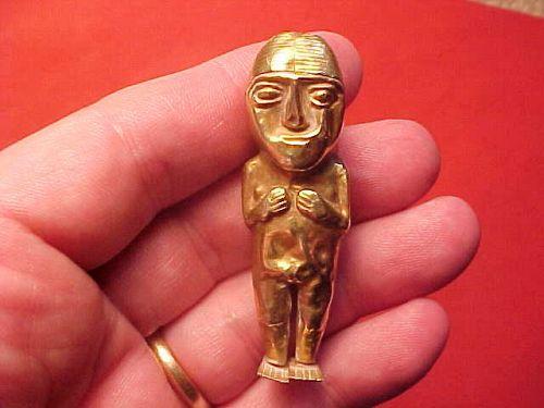 Incan 18K Gold Female Idol 1300AD-1500AD