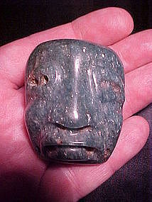Olmec Fuchsite Maskette with video Bill Breckinridge Laser COA