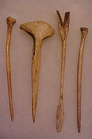 Extremely Rare Bone Pins: Mississippian w/video