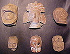 Pre-Columbian Ceramic Heads from Mexico Ex.Heflin