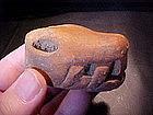 Ceramic Serpent Head Coatlinchan, Mexico Ex. Heflin