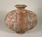 Large, Colorful Han Dynasty Pottery Cocoon Jar