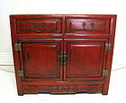 Red Lacquered Chinese Chest, Qing