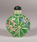 Antique Chinese Enameled Porcelain Snuff Bottle