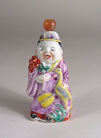 Antique Chinese Porcelain Figural Snuff Bottle
