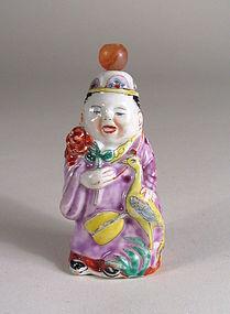 Antique Chinese Porcelain Figural Snuff Bottle