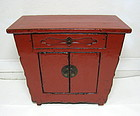 Red Lacquered Chinese Provincial Chest, Late Qing