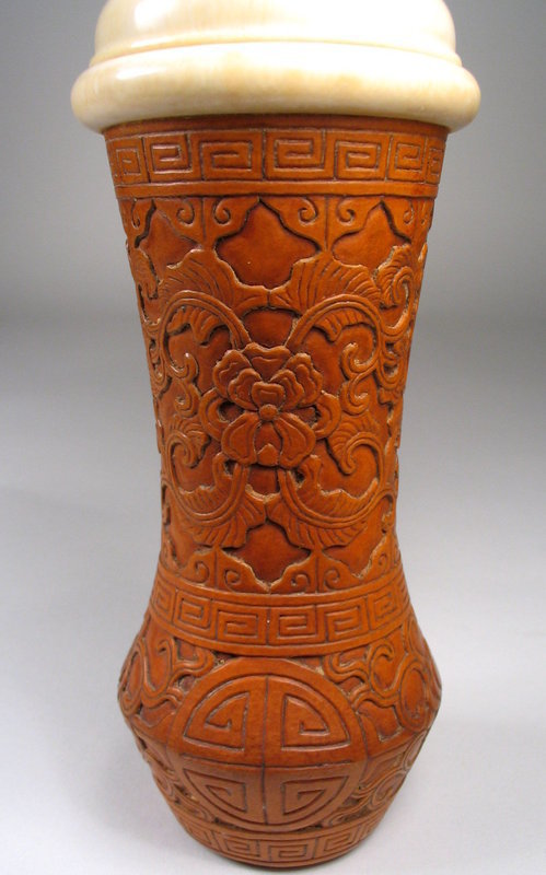 Fine Chinese Gourd & Ivory Cricket Box, Qing Dy
