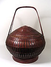 Large Chinese Bamboo Basket
