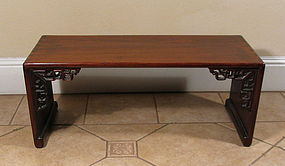 Chinese Rosewood Kang Table, 18th or 19th C.