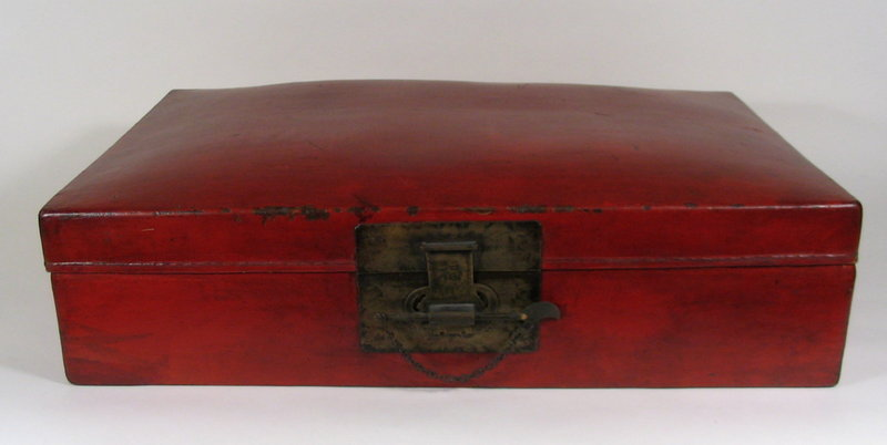 Chinese Leather Document Chest