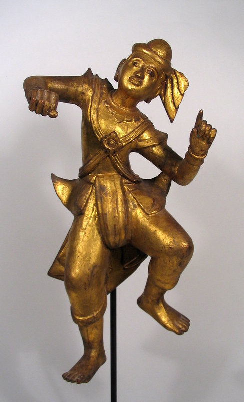 Burmese Lacquered Dancing Nat