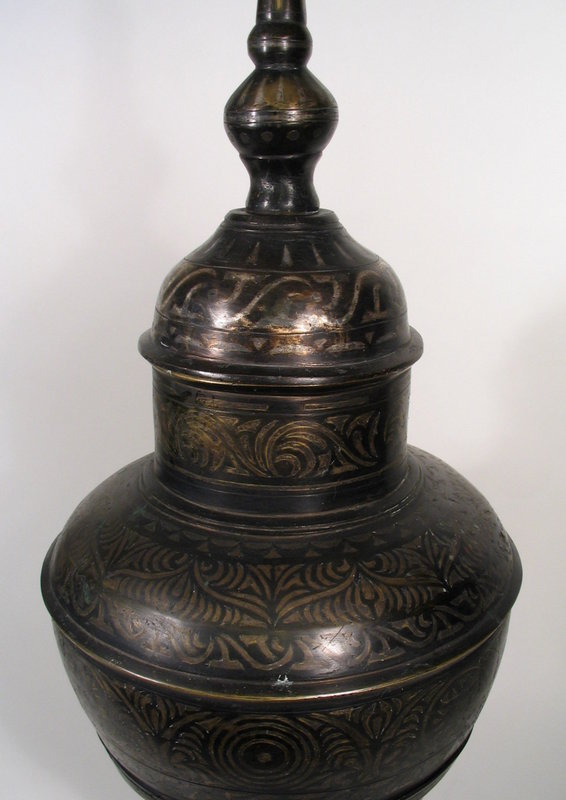 Large Filipino Maranao Bronze Vessel with Inlays, 19th