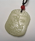 Fine Chinese Jade Pendant / Toggle