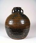 Chinese Jin Dynasty Brown & Black Glazed Stoneware Pot