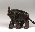 Chinese Hardwood Elephant Toggle, Qing