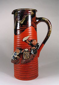 Tall Japanese Sumida Tankard, Early 20th C.