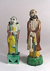 Chinese Porcelain Figures of Immortal Li T'ieh-kuai
